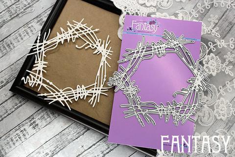 Fantasy Dies stanssi Twig Wreath, Circle