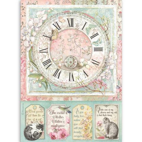 Stamperia riisipaperi Clock