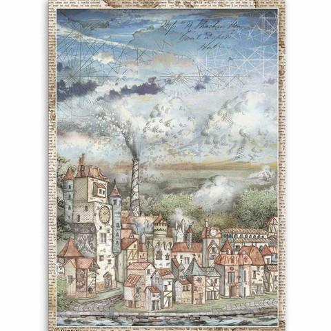Stamperia riisipaperi Sir Vagabond, Cityscape