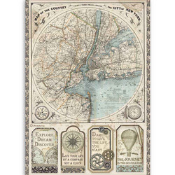 Stamperia riisipaperi Sir Vagabond, Map of New York