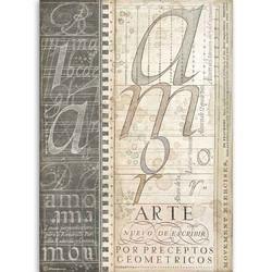 Stamperia riisipaperi Alphabet