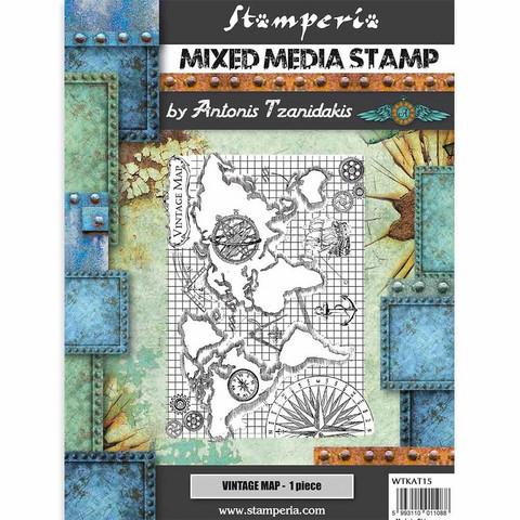 Stamperia Mixed Media leimasin Sir Vagabond, Vintage Map