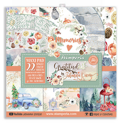 Stamperia Maxi paperipakkaus Gratitude, 12