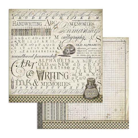 Stamperia Calligraphy skräppipaperi Ink