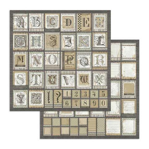 Stamperia Calligraphy skräppipaperi Alphabet