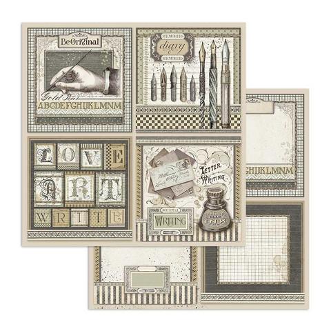 Stamperia Calligraphy skräppipaperi Cards