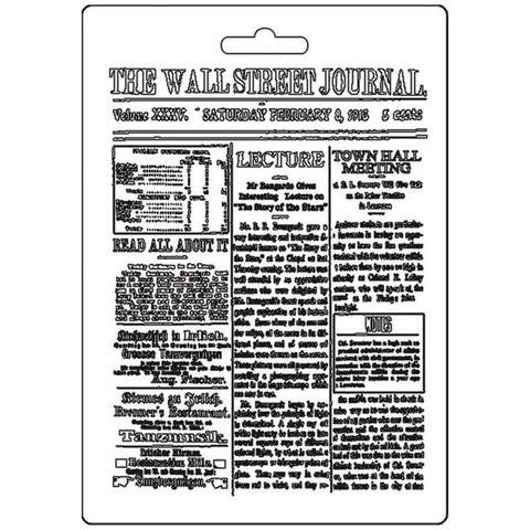 Stamperia The Wall Street Journal -muotti (tekstuurilevy)