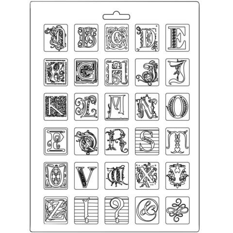 Stamperia Maxi Mould -muotti Alphabet