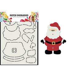 Dutch DooBaDoo Card Art Built Up Santa -sapluuna