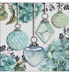 Servetti Hanging Baubles, Green, 20 kpl