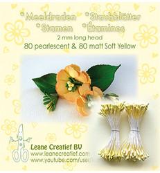 Leane Creatief Heteet, 2 mm. 160 kpl. Sävy keltainen