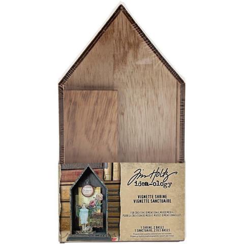 Tim Holtz Idea-Ology Wooden Vignette Shrine -laatikko