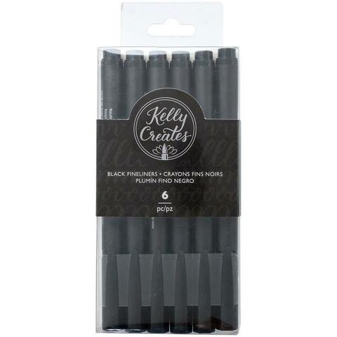 Kelly Creates Fineliners -kynäsetti, musta