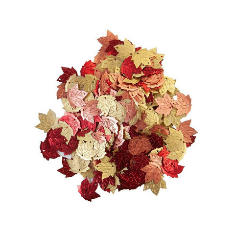 Prima Pretty Pumpkin & Spice Glitter Sequins, Leaves -koristeet