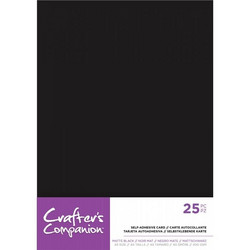 Crafter's Companion Self-Adhesive Card Matte Black, tarrataustainen kartonki, A5