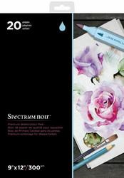 Spectrum Noir Premium Watercolor -paperipakkaus, 20 arkkia, 9