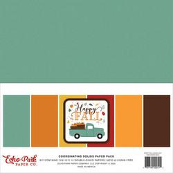 Echo Park Happy Fall, Solids -paperipakkaus, 12