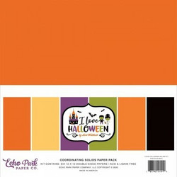 Echo Park I Love Halloween, Solids -paperipakkaus, 12