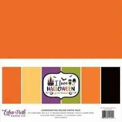 Echo Park I Love Halloween, Solids -paperipakkaus, 12