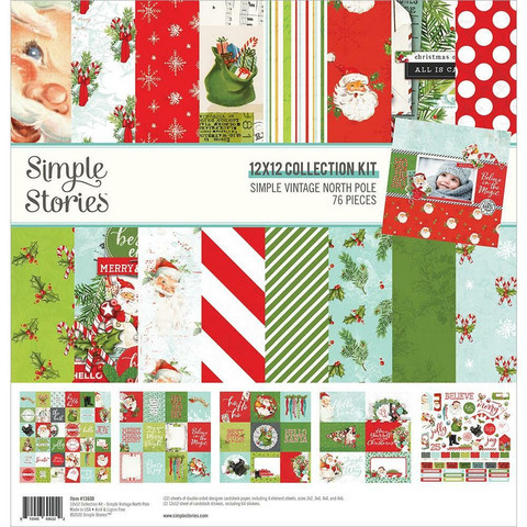 Simple Stories Simple Vintage North Pole -paperipakkaus, 12