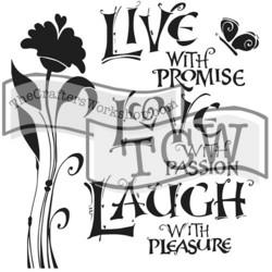 Crafter's Workshop sapluuna Live Love Laugh 12