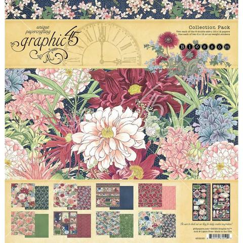 Graphic 45 -paperipakkaus Blossom, 12