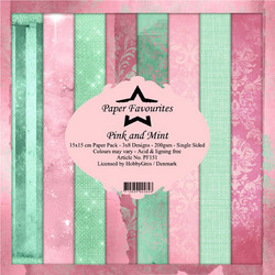 Dixi Craft Pink and Mint -paperipakkaus