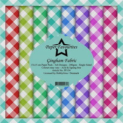 Dixi Craft Gingham Fabric -paperipakkaus