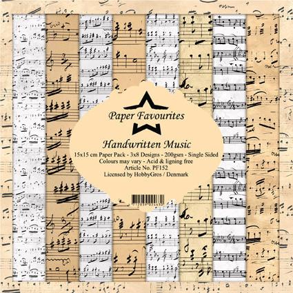Paper Favourites Handwritten Music -paperipakkaus