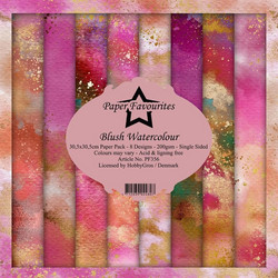 Dixi Craft Blush Watercolor -paperipakkaus, 12