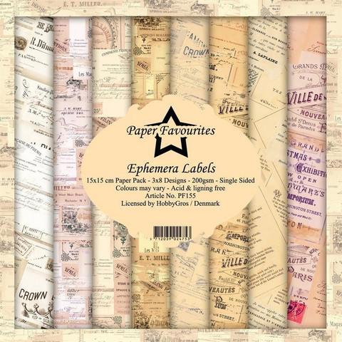 Dixi Craft Ephemera Labels -paperipakkaus