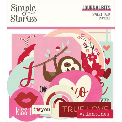 Simple Stories Sweet Talk Journal Bits Die-Cuts, leikekuvat