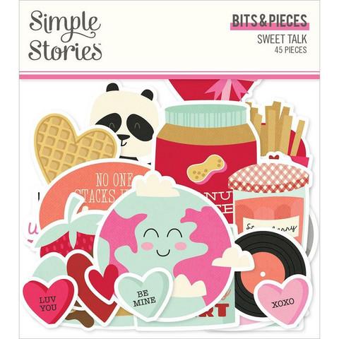 Simple Stories Sweet Talk Bits & Pieces Die-Cuts, leikekuvat