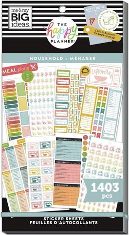 Mambi Happy Planner Value Pack -tarrapakkaus Household