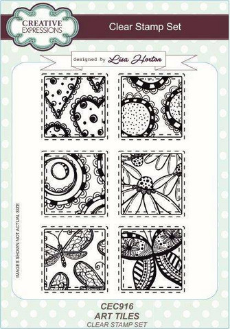 Creative Expressions Art Tiles -leimasinsetti