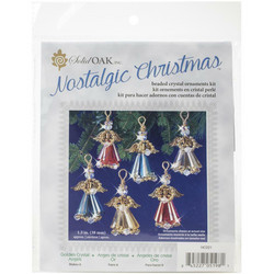 Nostalgic Christmas Beaded Crystal Ornament -pakkaus, Golden Crystal Angels