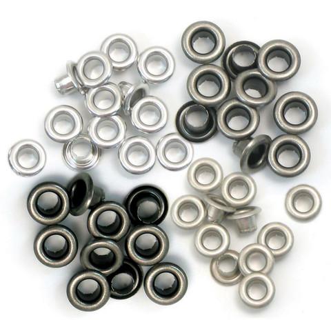 We R Eyelets Standard, sirkat, 60 kpl, kylmä metalli