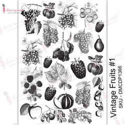Dress My Craft Transfer Me -arkki, Vintage Fruits #1