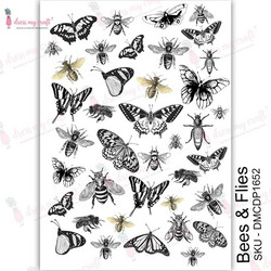 Dress My Craft Transfer Me -arkki, Bees & Flies