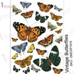 Dress My Craft Transfer Me -arkki, Vintage Butterflies