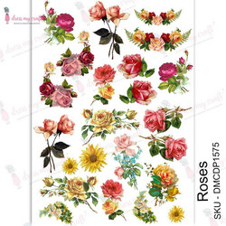 Dress My Craft Transfer Me -arkki, Roses