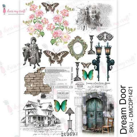 Dress My Craft Transfer Me -arkki, Dream Door