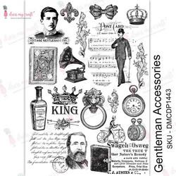 Dress My Craft Transfer Me -arkki, Gentleman Accessories