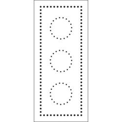 Crafter's Workshop Slimline sapluuna Dotted Circles