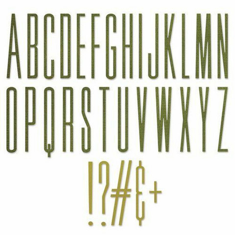 Sizzix Tim Holtz Thinlits stanssisetti Alphanumeric Stretch Upper
