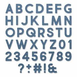 Sizzix Tim Holtz Thinlits stanssisetti Alphanumeric Bold