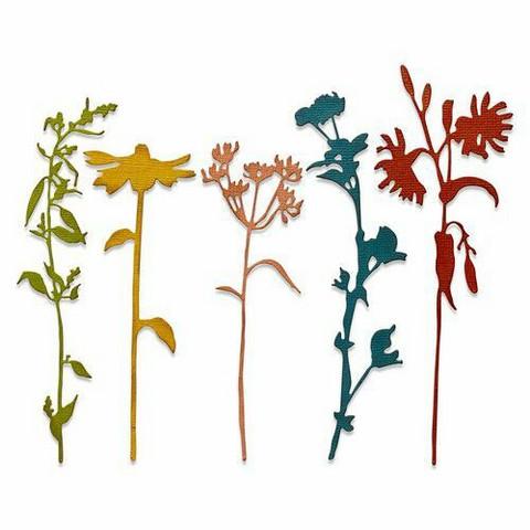 Sizzix Tim Holtz Thinlits stanssisetti Wildflower Stems #3