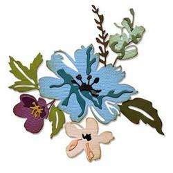 Sizzix Tim Holtz Thinlits stanssisetti Brushstroke Flowers #2
