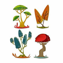 Sizzix Tim Holtz Thinlits stanssisetti Funky Toadstools