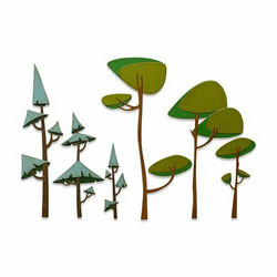 Sizzix Tim Holtz Thinlits stanssisetti Funky Trees